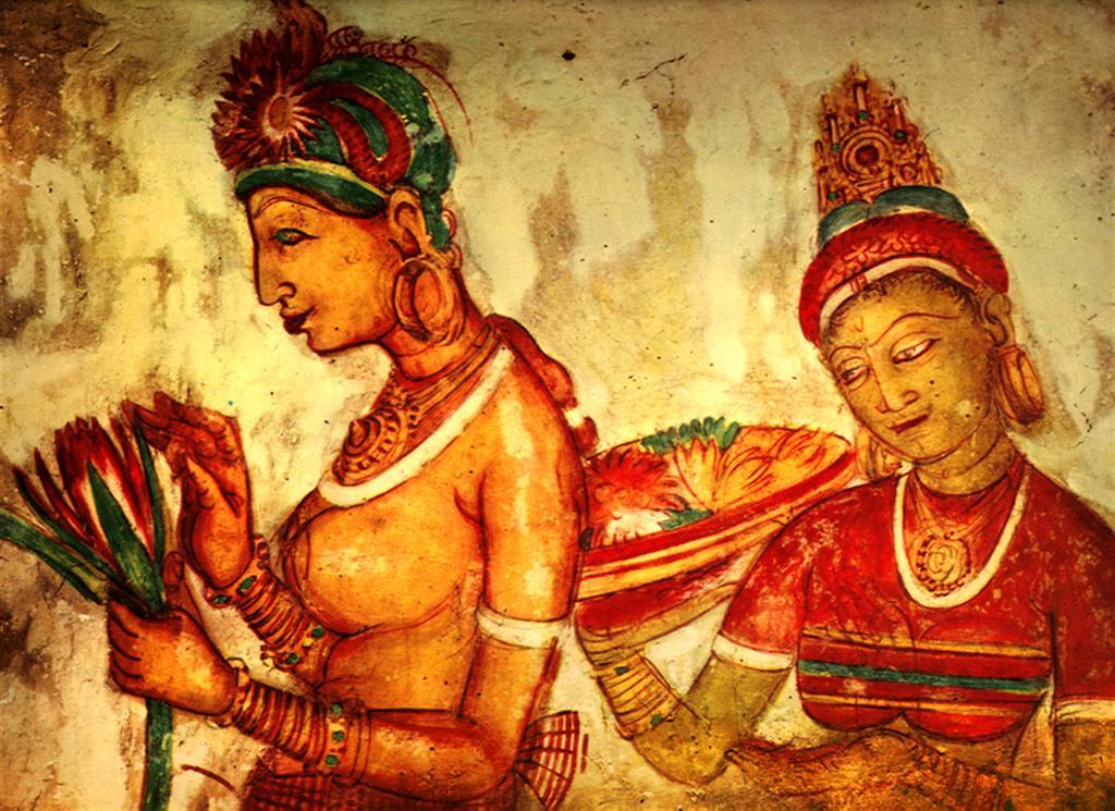 Sigiriya frescoes paintings